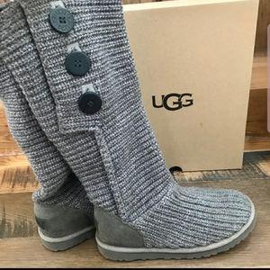 Ugg Gray Knit Boots (Sz 7)